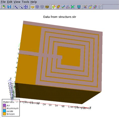 square inductor inductance simulation of a simple square sided inductor