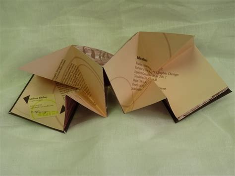 Origami Cv - origami resume marketing design typography