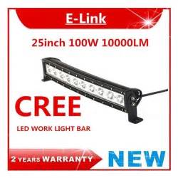25 Led Light Bar 25 Inch 100w Cree Led Work Light Bar Single Row Curved Offroad Truck Ute Driving Ebay