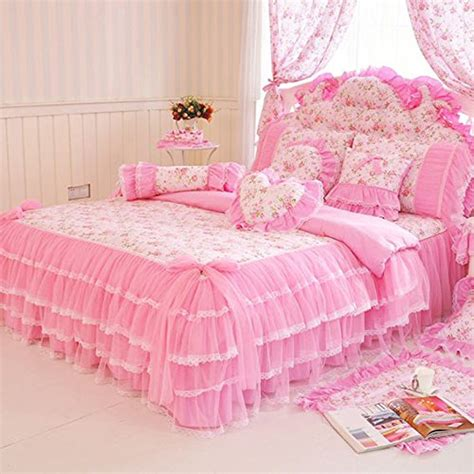 Girly Bedding Sets Memorecool Home Textile Design Pastoral Style Floral Lace Princess Bedding Set Girly