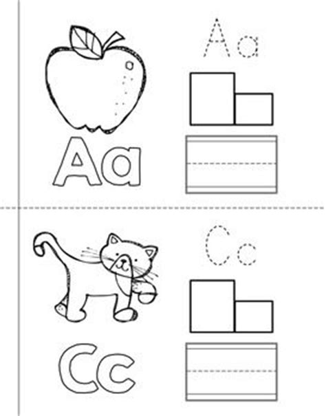 printable alphabet letters books 6 best images of printable alphabet books for pre k k