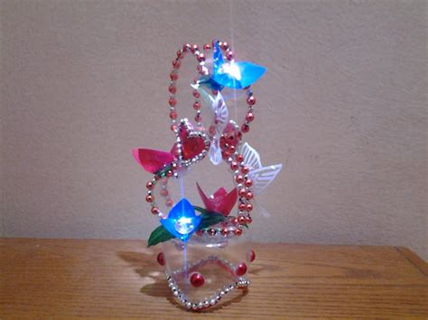 Waste Paper Craft - best out of waste plastic bottle transformed to lovely