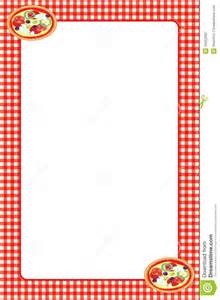 red gingham pizza frame stock image image of crust dish