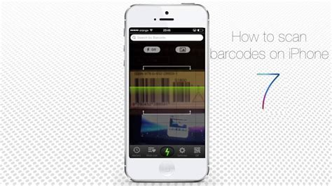 how to scan barcodes via iphone and running on ios 7