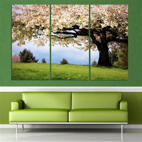 luxry 3 canvas wall tree