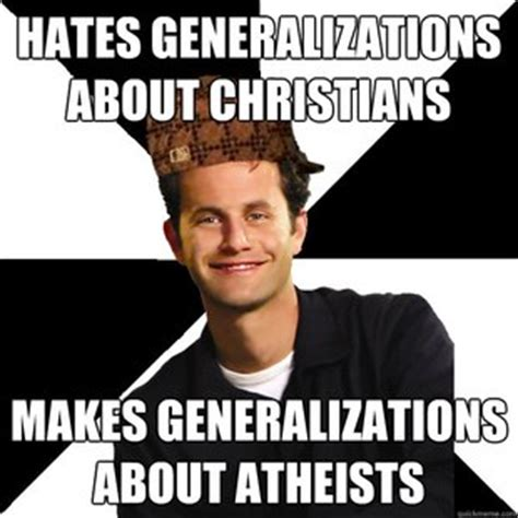 Smug Atheist Meme - does this meme represent the typical christian friendly