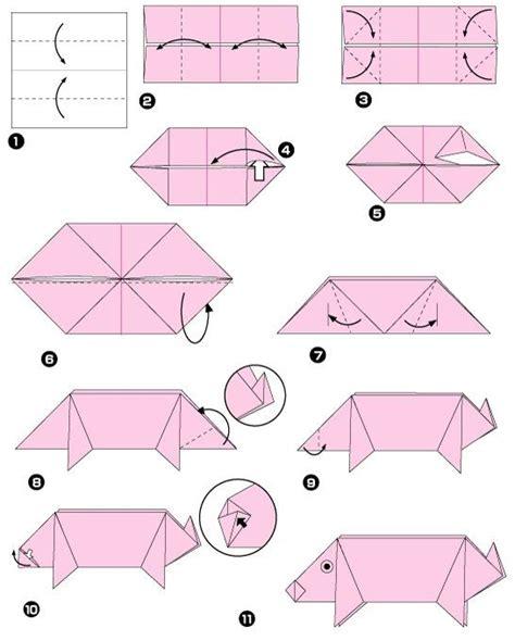 Origami Pig Diagram - best 25 origami diagrams ideas on diy origami