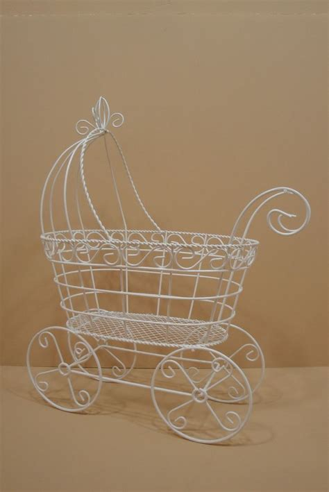 Baby Shower Wire by 1 Large Fancy Wire Baby Shower Carriage Stroller