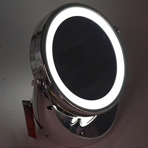 Travel Lighted Makeup Mirror by Led Lighted Makeup Cosmetic Mirror 4 Quot Portable Turnable