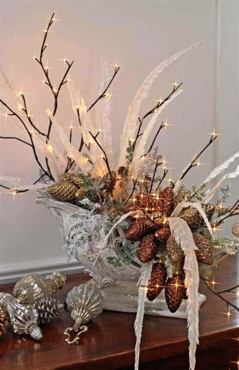 christmas centerpieces lights decorations ideas