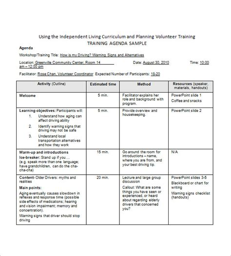 agenda templates word expin franklinfire co