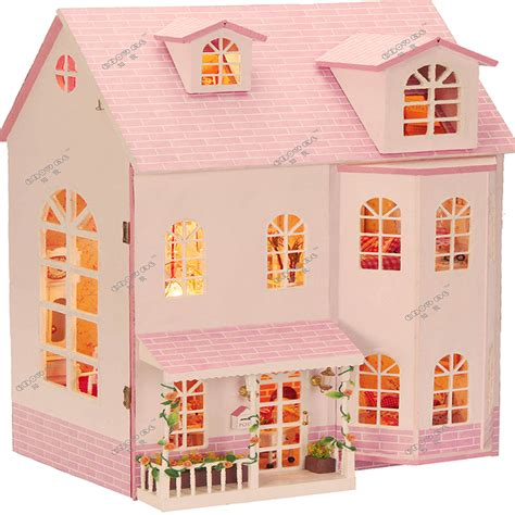 doll house children handmade doll house furniture miniatura diy doll houses miniature wooden unisex 3d