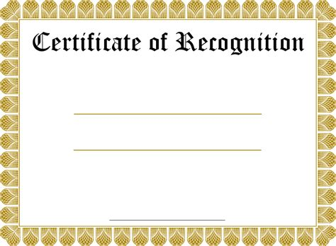 recognition certificate templates pre printed border award templates studio design