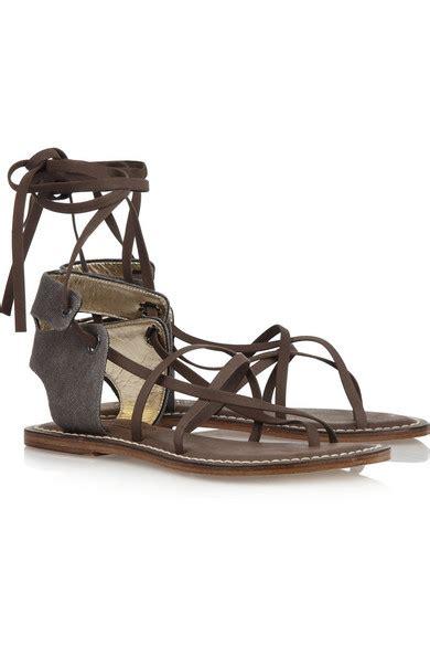 berardo porte bernardo rudofsky canvas and leather sandals net a