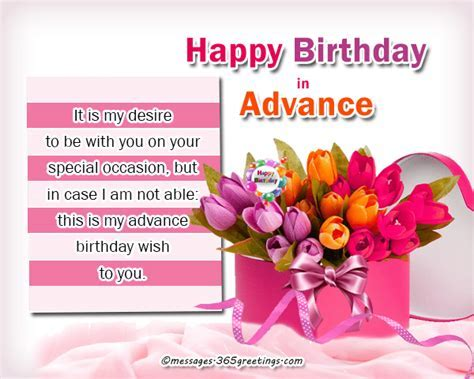 happy birthday wishes in advance   365greetings.com