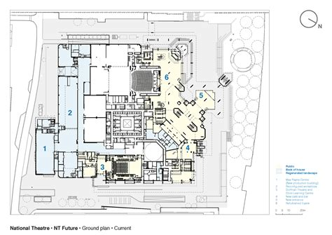 national theatre ground floor plan dorfman theatre national theatre haworth tompkins archdaily