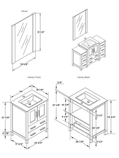 standard mirror sizes for bathrooms 24 quot to 48 quot torino single bath vanity espresso bathgems com