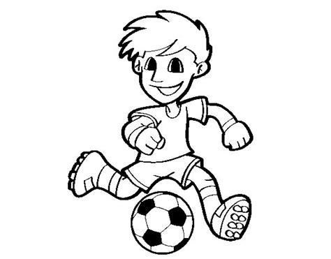 imagenes para pintar futbol dibujo de jugador de f 250 tbol con bal 243 n para colorear