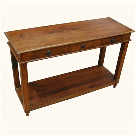 Entry Foyer Table Solid Wood Entry Sofa Console Foyer Table W 3 Drawers