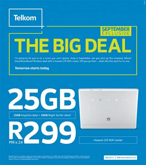 Wifi Telkom telkom s big deal 25gb and an lte router for r299