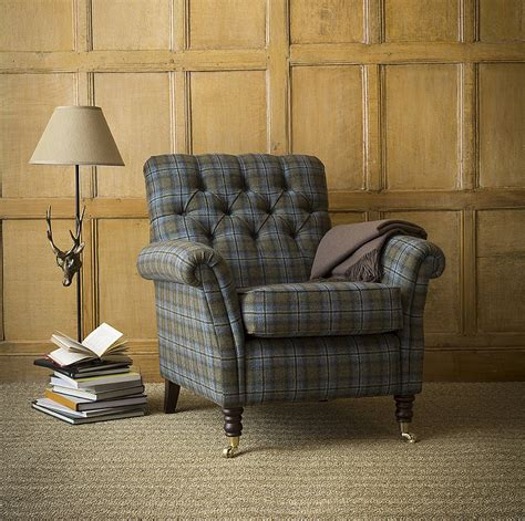 chatsworth armchair chatsworth tartan foxwood armchair by within home