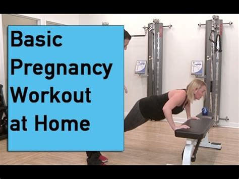 basic pregnancy workout at home