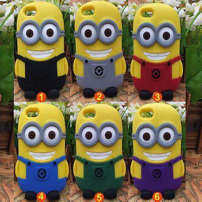 Minion 3d Iphone 4 4s 3d despicable me 2 minions silicone 233 tui housse coque pour