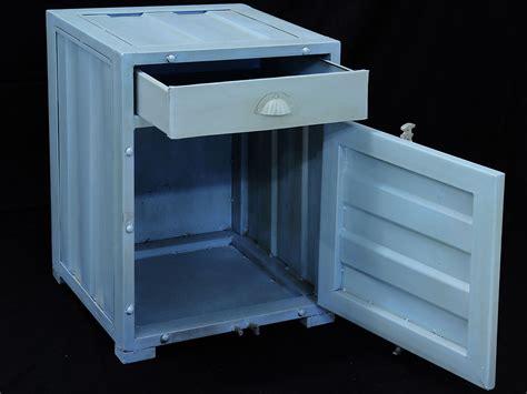 container schrank metall container schrank nachttisch kommode industrielook 2048