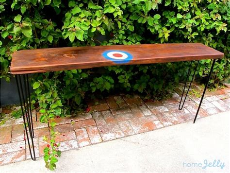 make your own sofa table design your own reclaimed wood console table homejelly