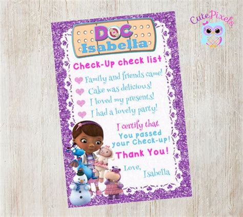 Doc Mcstuffins Thank You Card Template by 151 Best Images About Doc On Wall Signs Doc