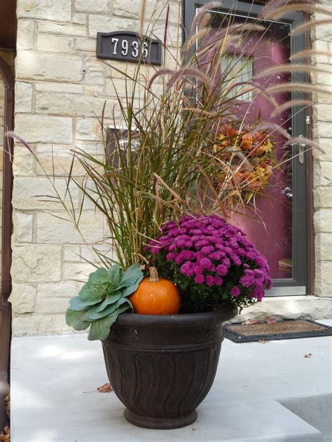 Fall Outdoor Planters dressing your fall planters dressed to a t