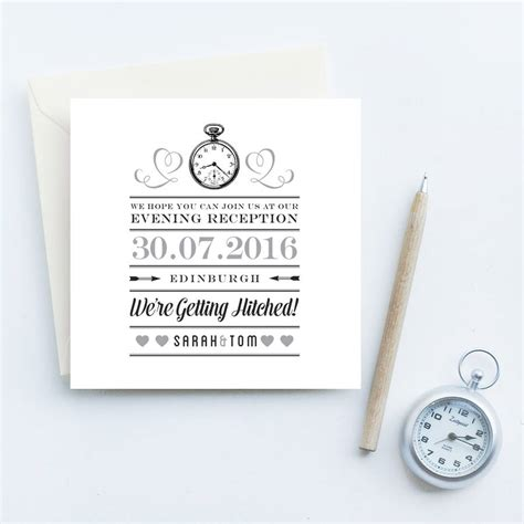 wedding invitations evening evening reception wedding invites by gift library notonthehighstreet