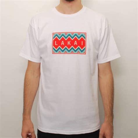 T Shirt Chevron lakai chevron skate t shirt white skate t shirts from skate store uk