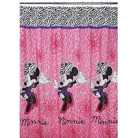 disney fabric shower curtain disney diva minnie fabric shower curtain walmart com