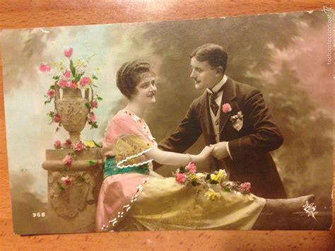 fotos antiguas romanticas antigua postal rom 225 ntica pareja de novios comprar
