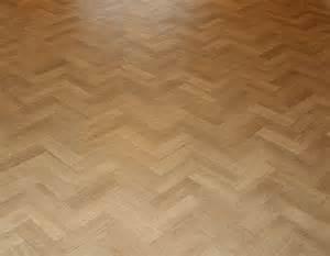 oak block flooring laid herringbone pattern with a two