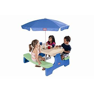 tikes easy store picnic table with blue umbrella tikes picnic table clearance wallpaper