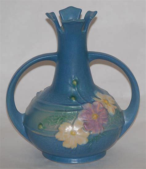 Antique Roseville Pottery Vases by Roseville Pottery Cosmos Blue Vase For Sale Antiques