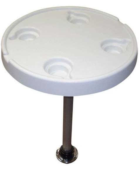 round pontoon boat table 21 quot large round plastic pontoon table