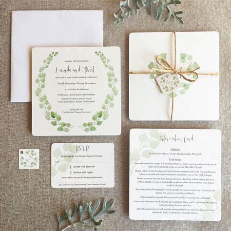 Wedding Invitation Collections eucalyptus wedding invitation collection by elinor