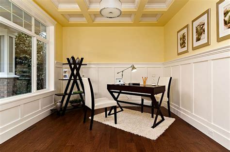 Office Wainscoting Ideas by Energize Your Workspace 30 Home Offices With Yellow Radiance
