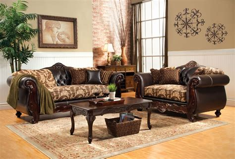 two piece sofa set 2 piece bonaparte traditional wood trim sofa set