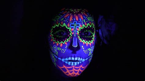 glow in the paint mexico uv and black light sugar skull designs skullsproject