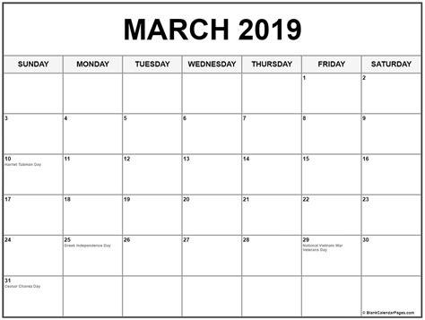 march 2019 calendar word editable march 2019 calendar printable blank template in