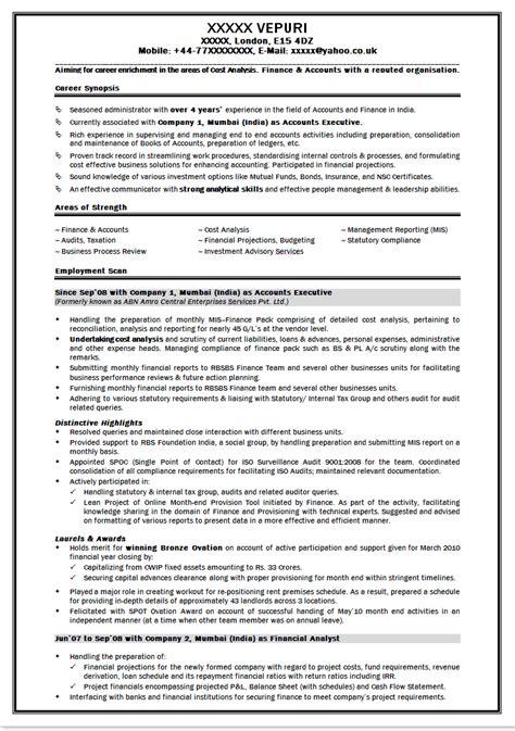Resume Format For Mba Finance   Resume Format