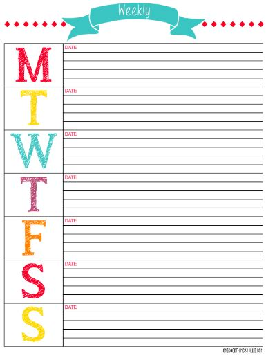 mega list printable calendars planners