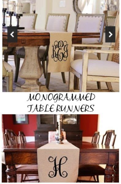 home decor ideas monogrammed table runners 48 2 days