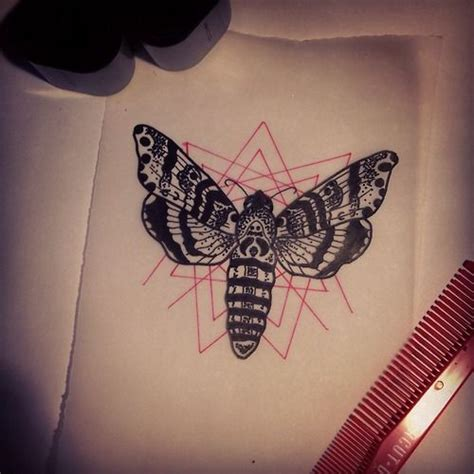 death moth tattoo moth geo tattoos moth