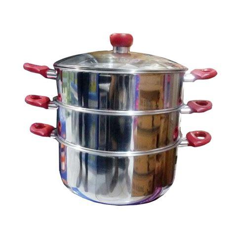 Panci Susun Stainless jual daily deals panci kukus supra 3 susun panci steamer 32 cm harga kualitas