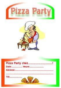 invitation pizza party invitation party f 234 te